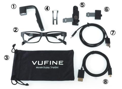 VUFINE+ ウェアラブルディス セット内容